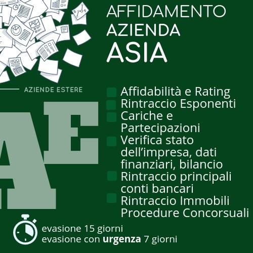 Affidamento azienda Asia