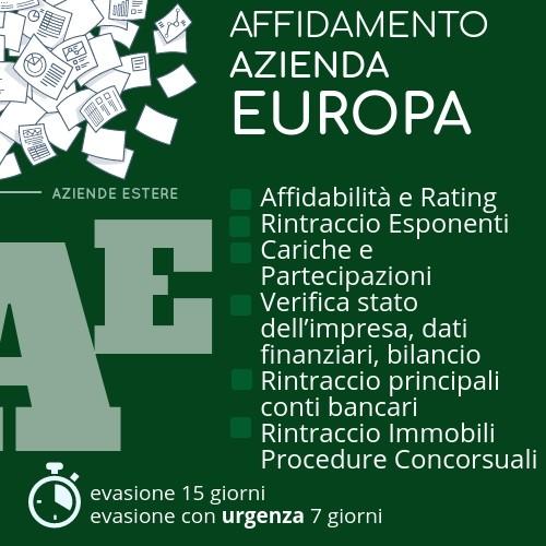 Affidamento azienda europa