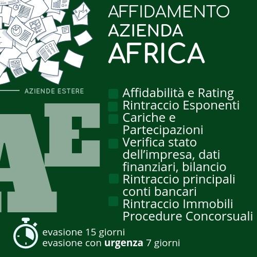 Indagini patrimoniali Africa